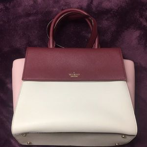BRAND NEW kate spade satchel in assorted pinks